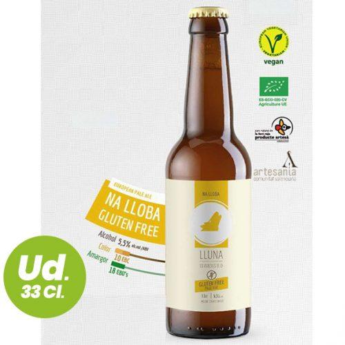 Cerveza Pale Ale Artesana Ecológica - Na Lloba - Lluna 33 Cl.
